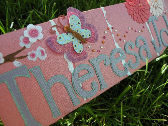 Desk Name Plate/ Personalized Desk Nameplate/ by KDragonflyDesigns,