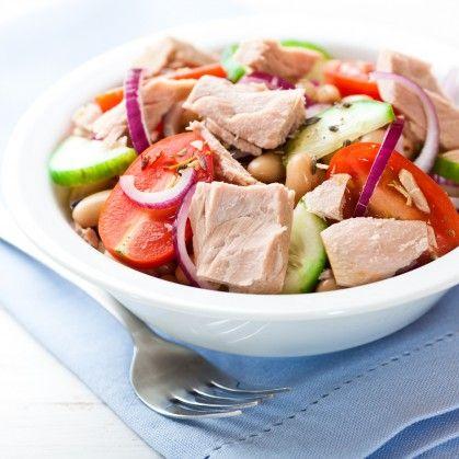 Салат с тунцом консервированным рецепт диетический | 419x419