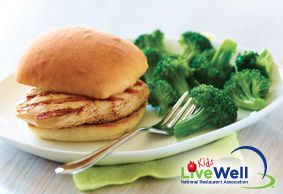 This Applebee's Grilled Chicken Sandwich with broccoli meets the ...
