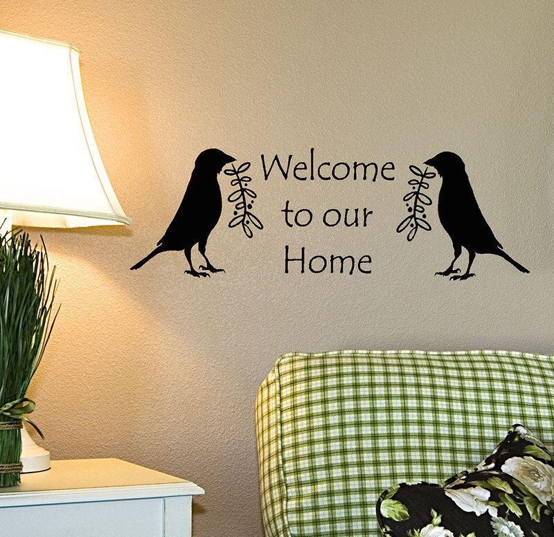 Welcome Wall Decal, Welcome to our home, Country primitive decor ...