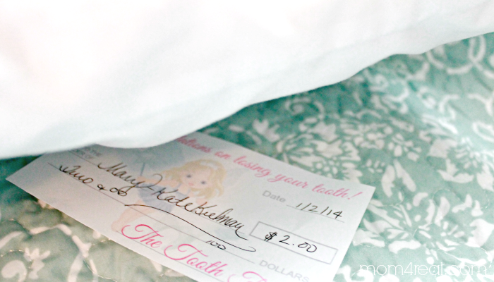 Tooth Fairy Check or Money Free Printable Tooth fairy