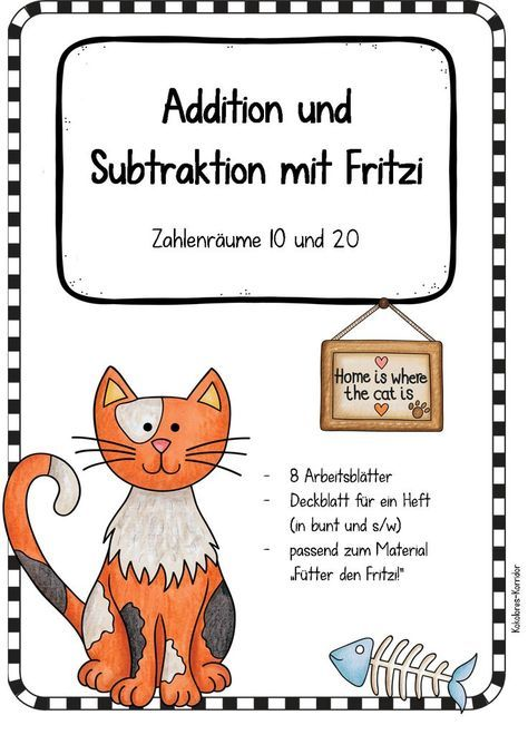 Kostenlose Arbeitsblätter mit Fritzi: Addition und Subtraktion in ...