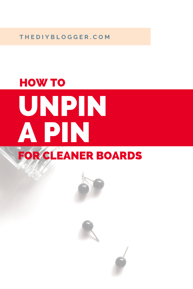 Do you want to unpin a pin on Pinterest? Did you accidentally pin something by mistake? Learn how to easily delete a pin from your board, or bulk delete pins if you have duplicates images or broken links on your Pinterest board. #pinteresttips #pinterestmarketing #pintereststrategy #pinterestforbeginners