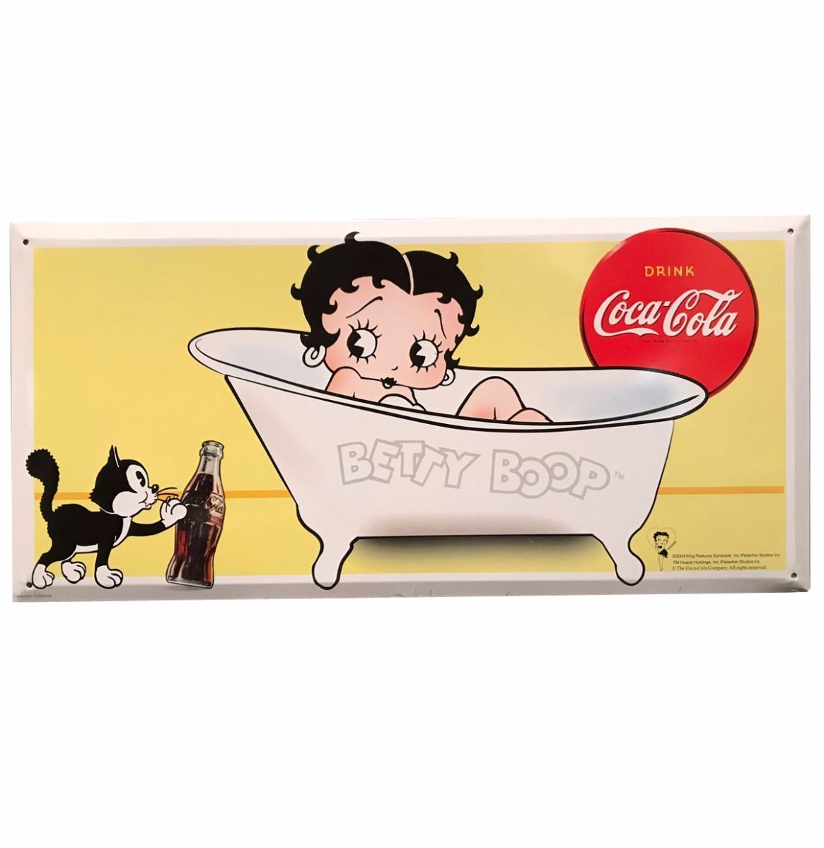 SUPER-DEAL: Betty Boop in Bath - Coca-Cola Metal Sign 45 x 21,5 cm ...