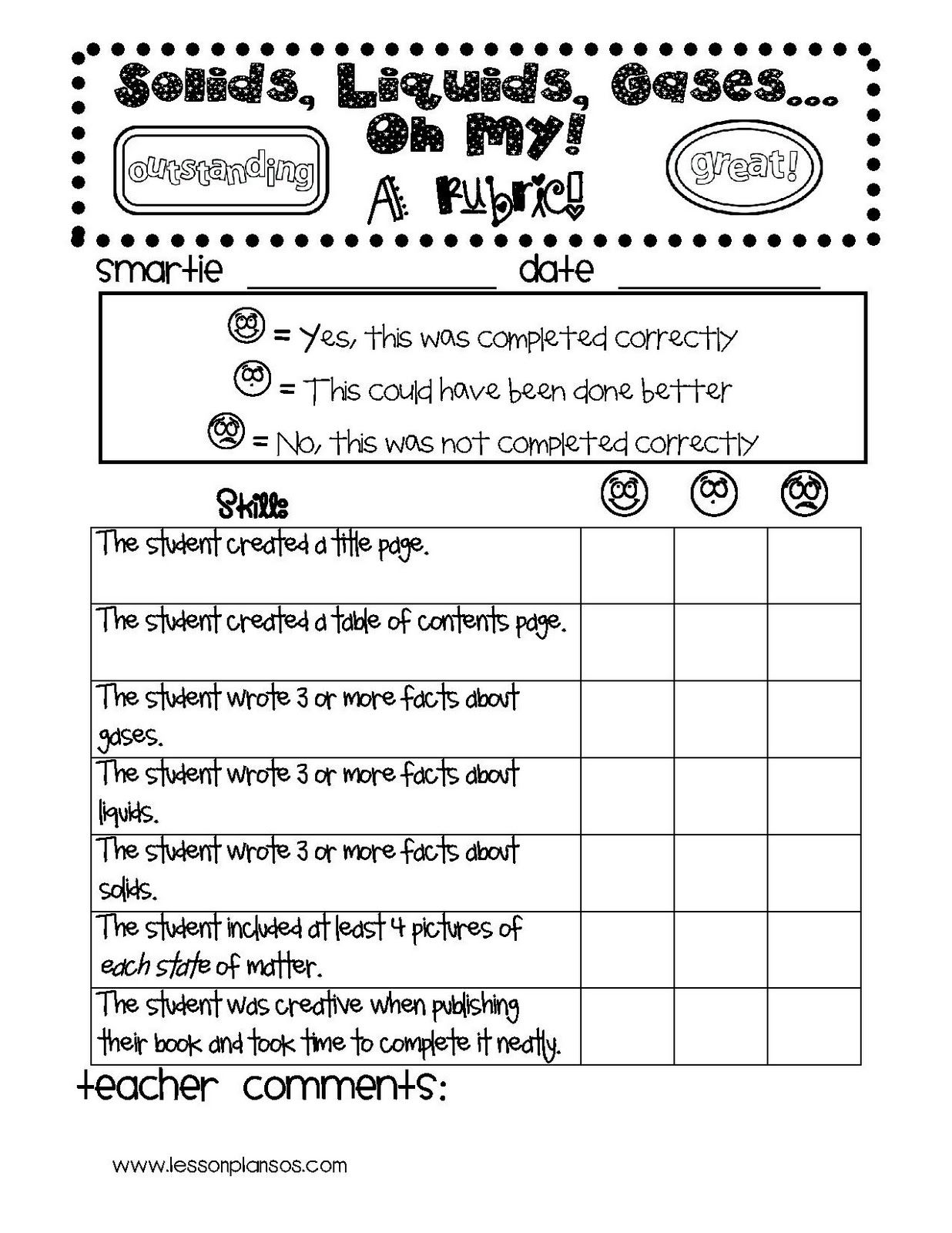 Idea For Matter Unit Make A Booklet And Score With A