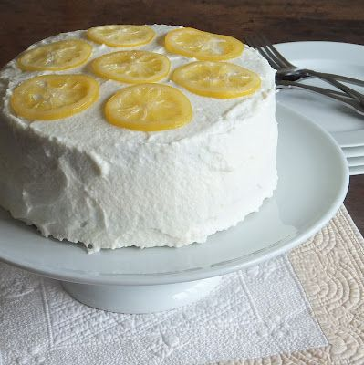 The Sweet Talker: Lemon Cake with Lemon Frosting