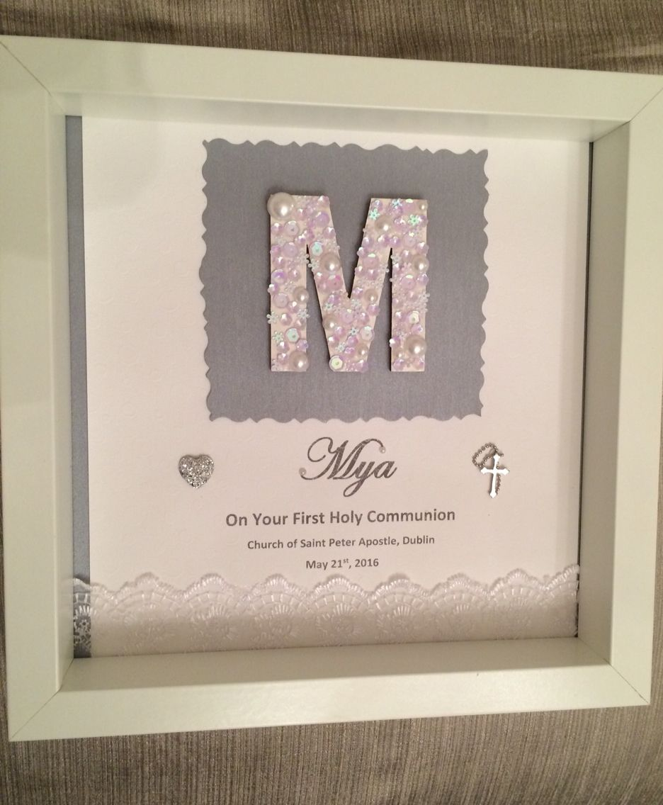 First Holy Communion Frame Souvenirs Pinterest Communion