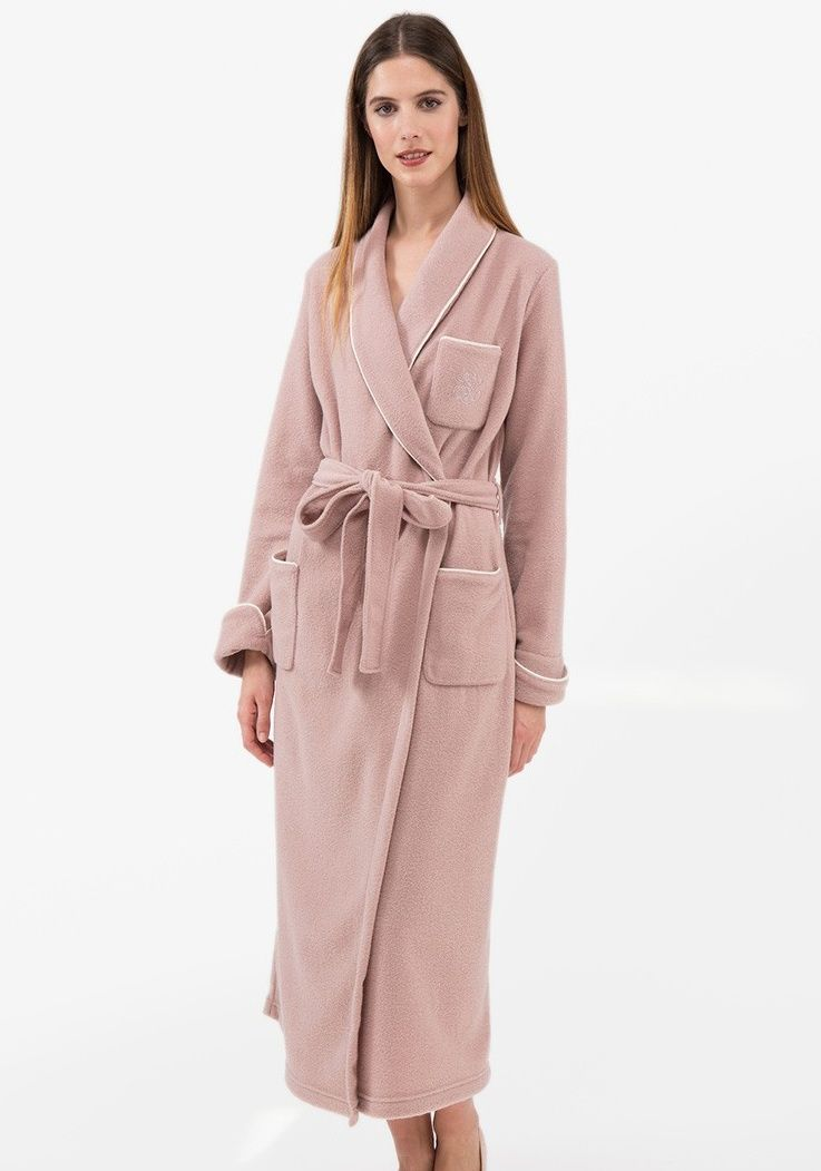 Ladies Extra Warm Dressing Gown with 3 Pockets - Mist £189.50 ...