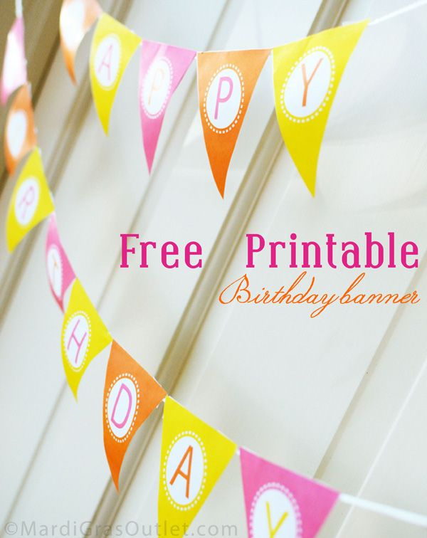 15 free birthday printables Family Happy birthday banner