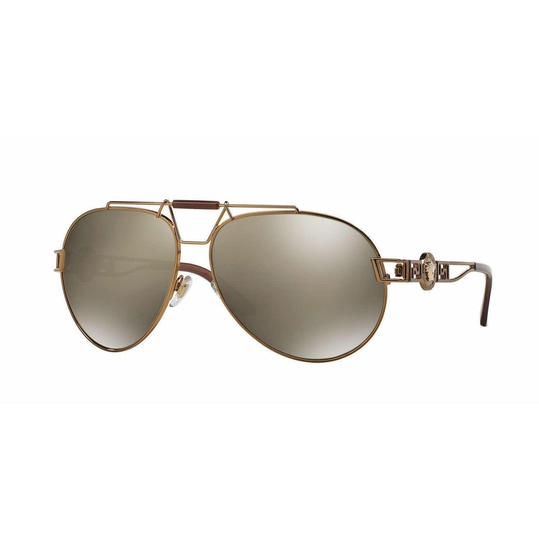 Versace Women VE2160 13485A Bronze/Copper Cateye Sunglasses ...