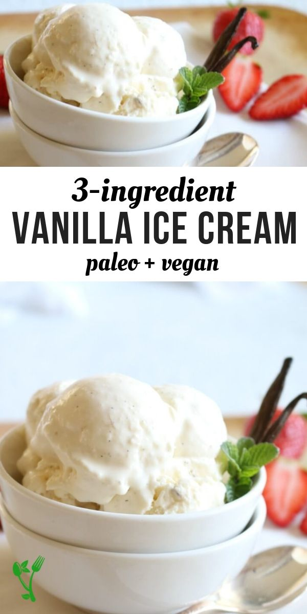 Paleo Vanilla Bean Ice Cream