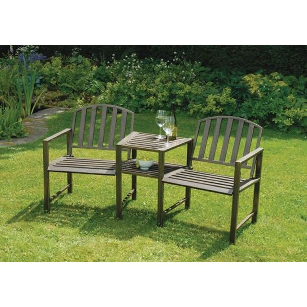 doverdale duo bench table love seatgarden - Wooden Garden Furniture Love Seats