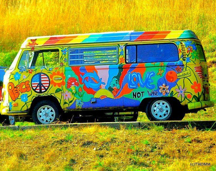 Incredible Hippie Wagon The Vw Bus Vintage I Love Vw Bus Vw