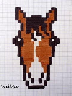 Les Créas De Valma Hama Dessin Pixel Pixel Art Et