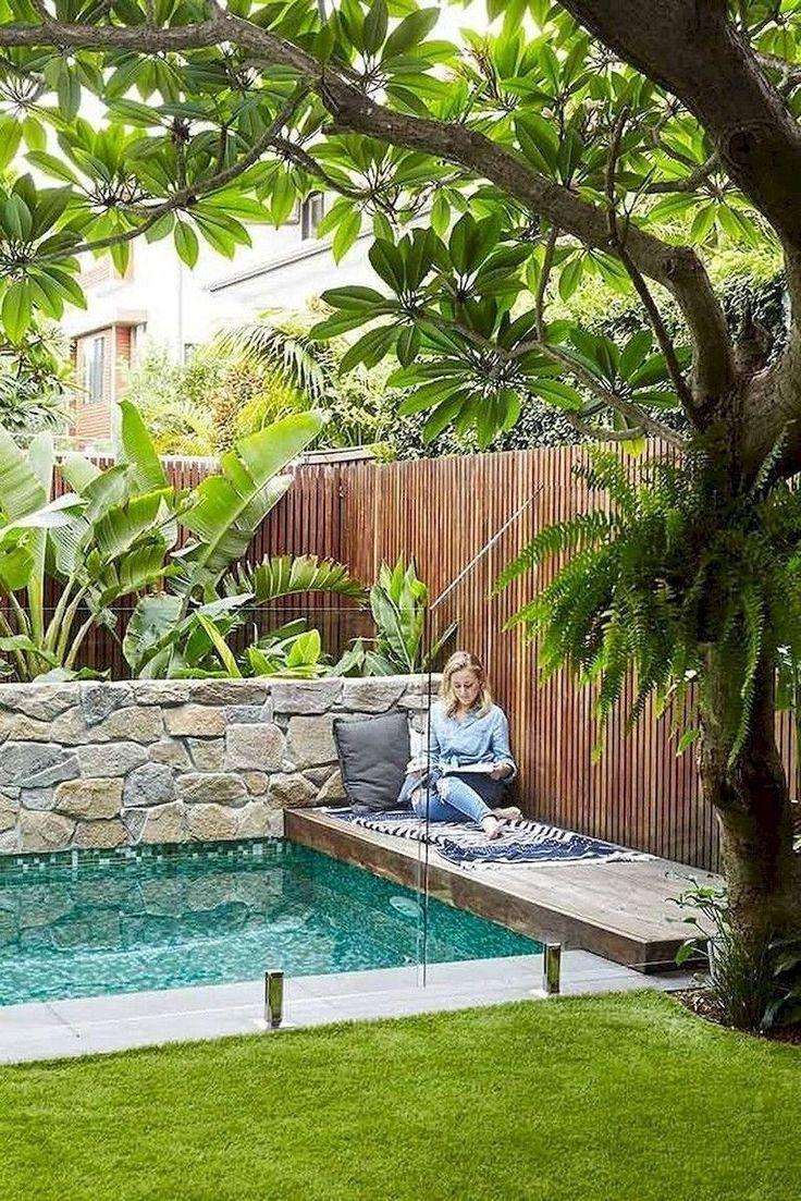 78 Cozy Swimming Pool Garden Design Ideas On A Budget Decorhit Com In 2020 Small Backyard Pools Small Pool Design Pool Landscape Design