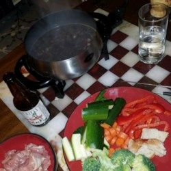 Coq Au Vin Broth Fondue #brothfonduerecipes