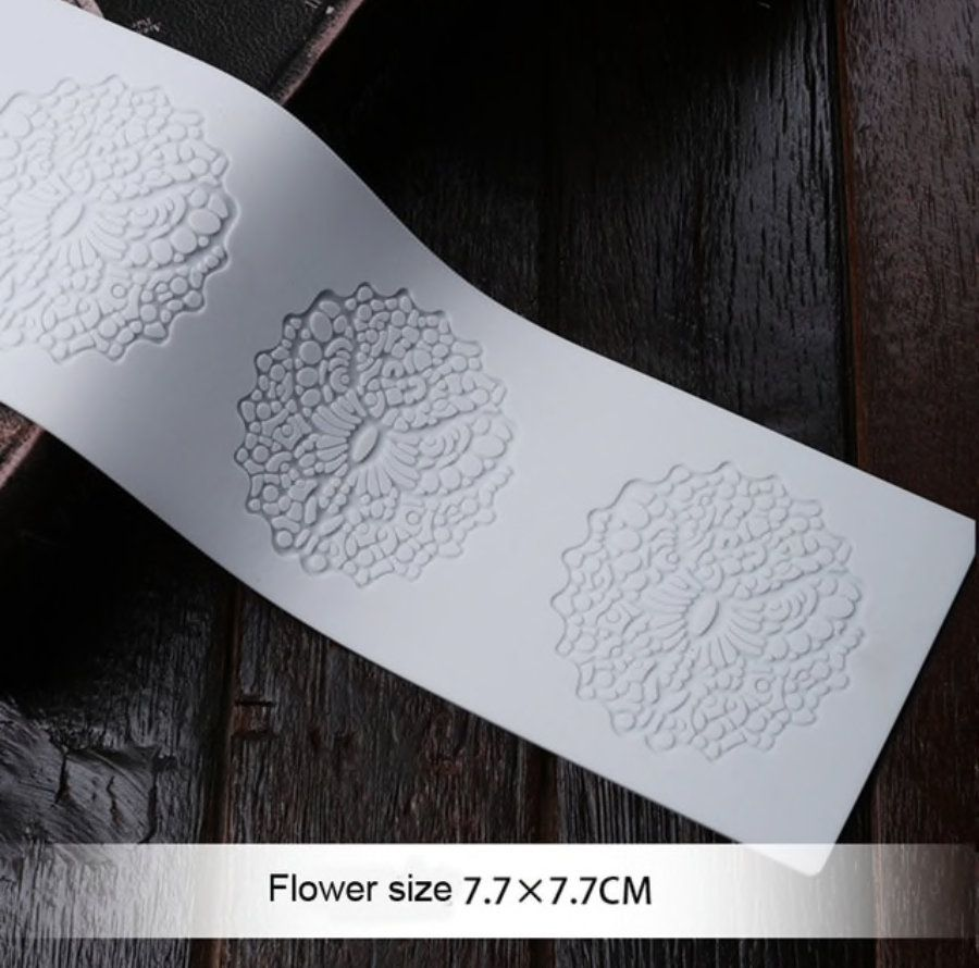 Embossing Mat Fondant Chocolate Flower Sugar Paste Silicone Mat Mold for Gum Paste Cake Decoration Sugar Lace Pad