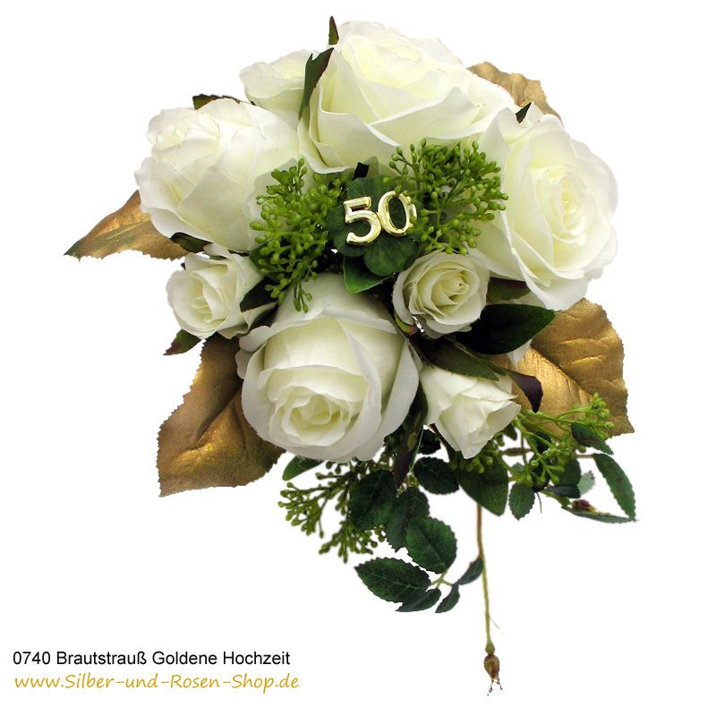 Brautstrauß Goldene Hochzeit Goldene Hochzeit Tischdeko