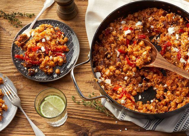 Eggplant rice pan with feta -  Eggplant rice pan with feta recipe – REWE.de  - #BudgetMealPlanning22.904 #CleanEatingLunches #EatCleanDinners #eggplant #feta #FrugalMeals #HealthyJuiceRecipes #JuiceRecipes #Meal-BudgetCooking #MoneySavingMeals #pan #Rice