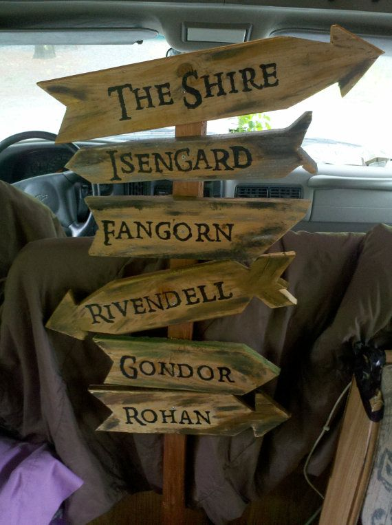 secret garden signs, decorative directional garden signs | hobbit & lotr party ideas, Design ideen