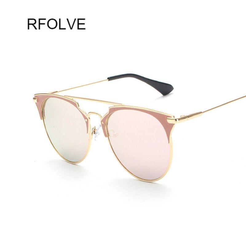 RFOLVE Newest Fashion Women Brand Designer Metal Frames Reflective ...