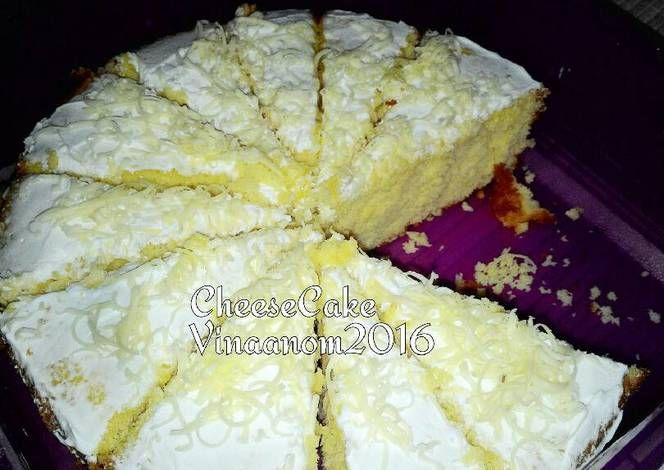 Resep Cheese Cake Panggang Lembut Oleh Vina Anom Resep Kue Keju Panggang Keju