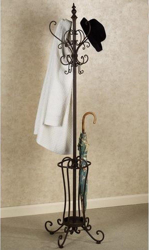 Faun Parcels Umbrella Sculpture Floor Coat Rack Stand Clothes