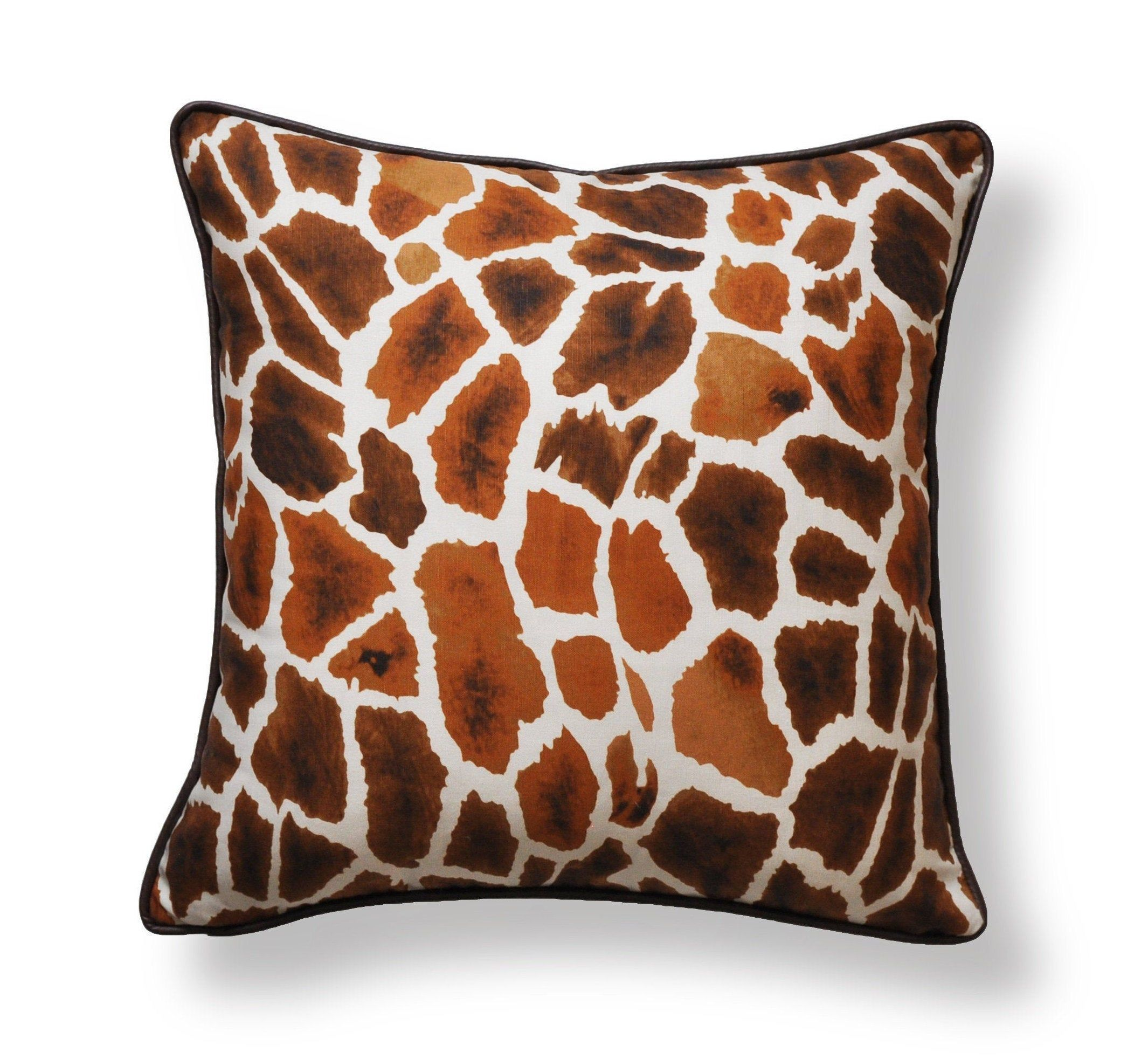 Set Of Two Thibaut Pillow Covers Giraffe Print Covers Etsy In 2020 Animal Print Pillows Linen Pillow Covers Pillows