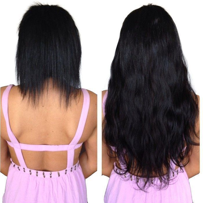 Leshinhair The Pics Of Before And After Apply Natural Black Tape In