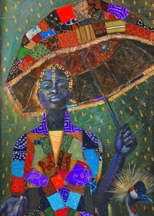 Beautiful depiction of a Woman of the African Diaspora! Art by Tamara  Natalie Madden | Art, American art, Umbrella art