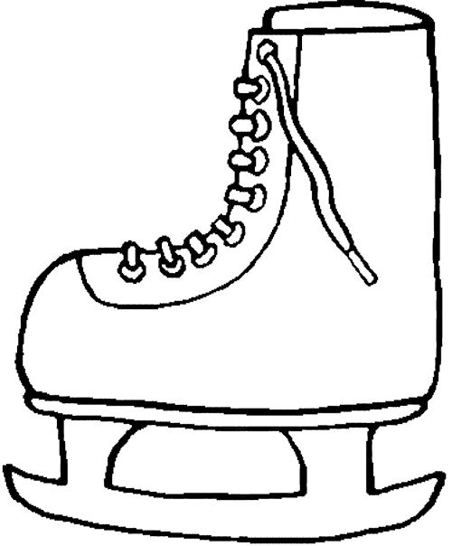 Winter Boots Sky Coloring Page