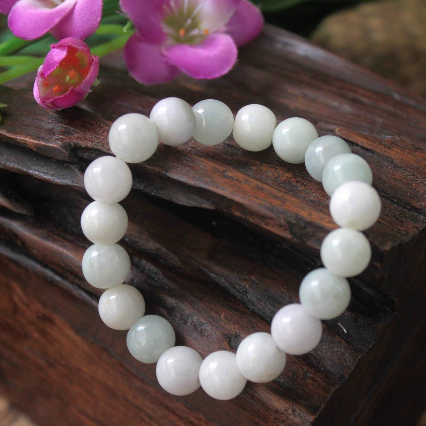 10X womens fashion heart charm chain bead Gold bangle bracelet Free Shipping WT