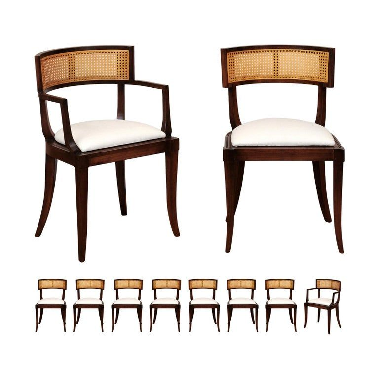 Set Of Ten Baker Furniture Company Dining Room Chairs 10