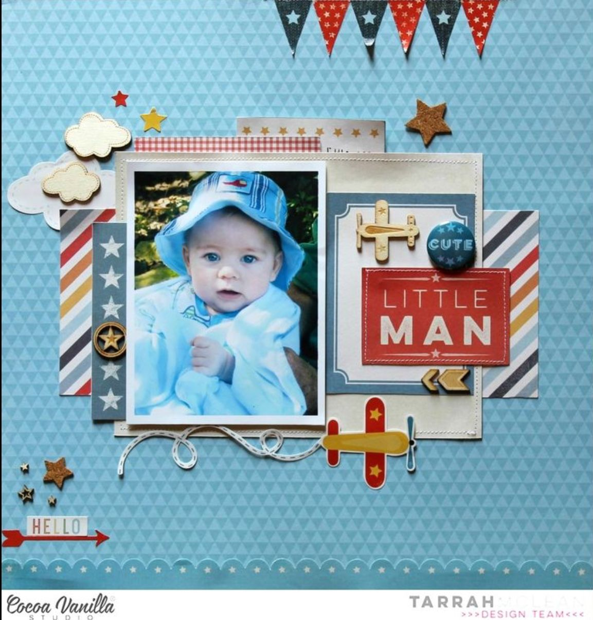 5 Double Page Layouts Boys Will Be Boys Scrapbook Set