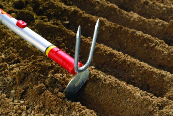 Double Sided Hoe Great For Digging Holes For Transplants Loosening Soil Making Rows And Weeding Org Organic Gardening Soil Garden Soil Organic Gardening