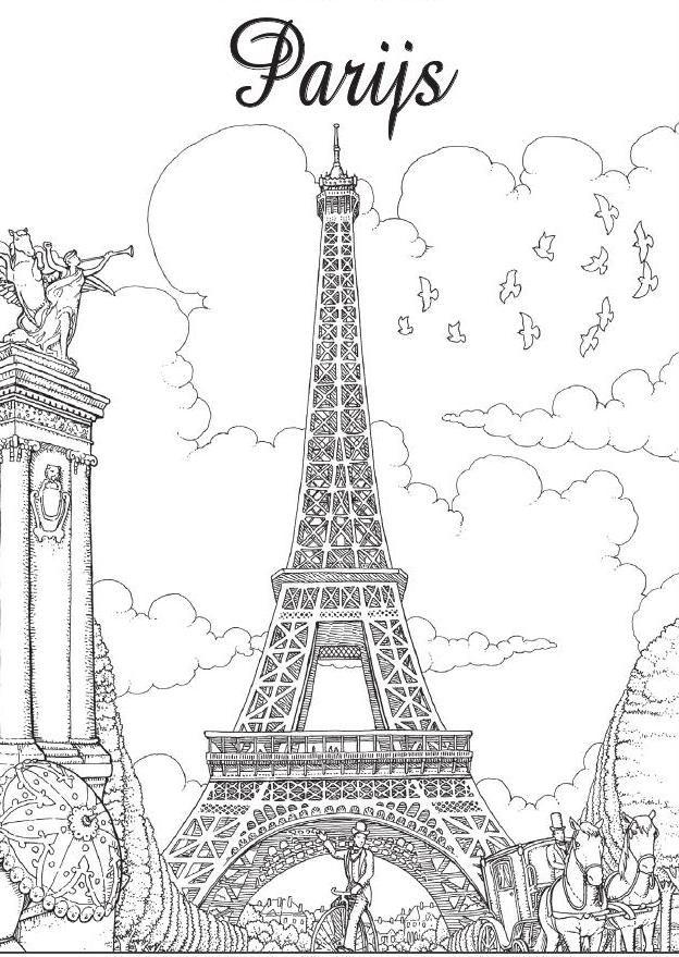 Inkijkexemplaar Kleurboek Voor Volwassenen Parijs