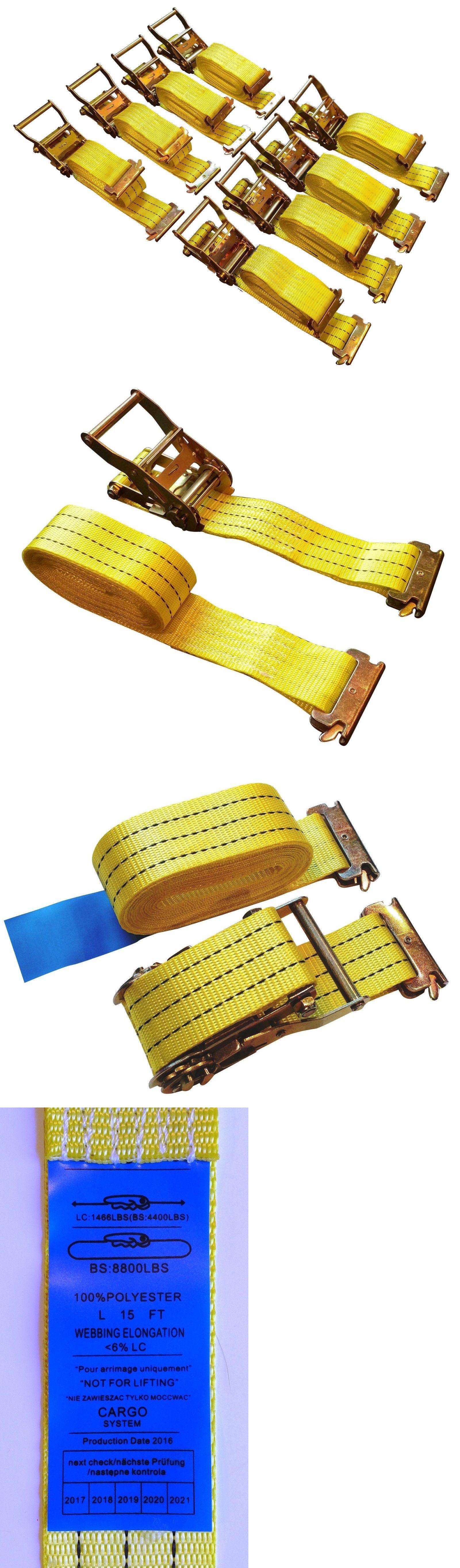 2 Pair 16ft E-TRACK RATCHET STRAP SET OF 4 each