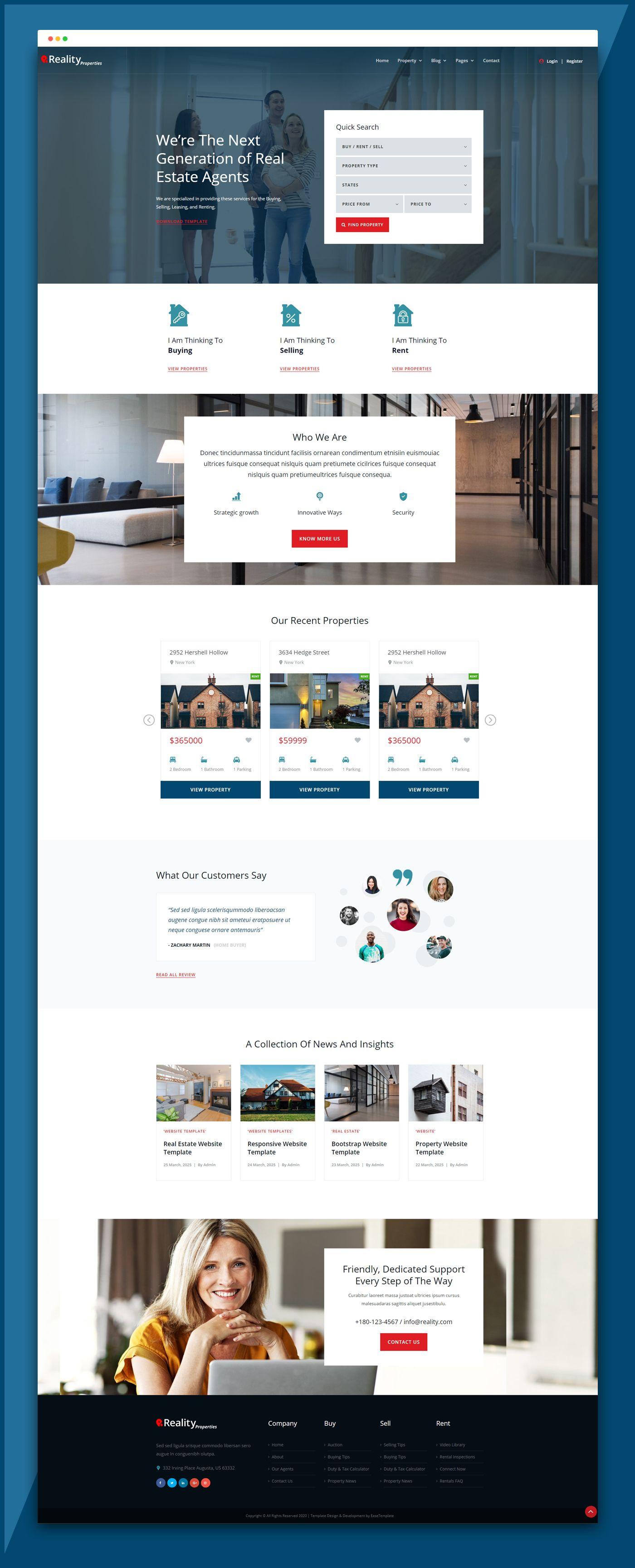 Real Estate Website Template Reality Responsive Ease Template Real Estate Website Templates Real Estate Website Design Real Estate Website