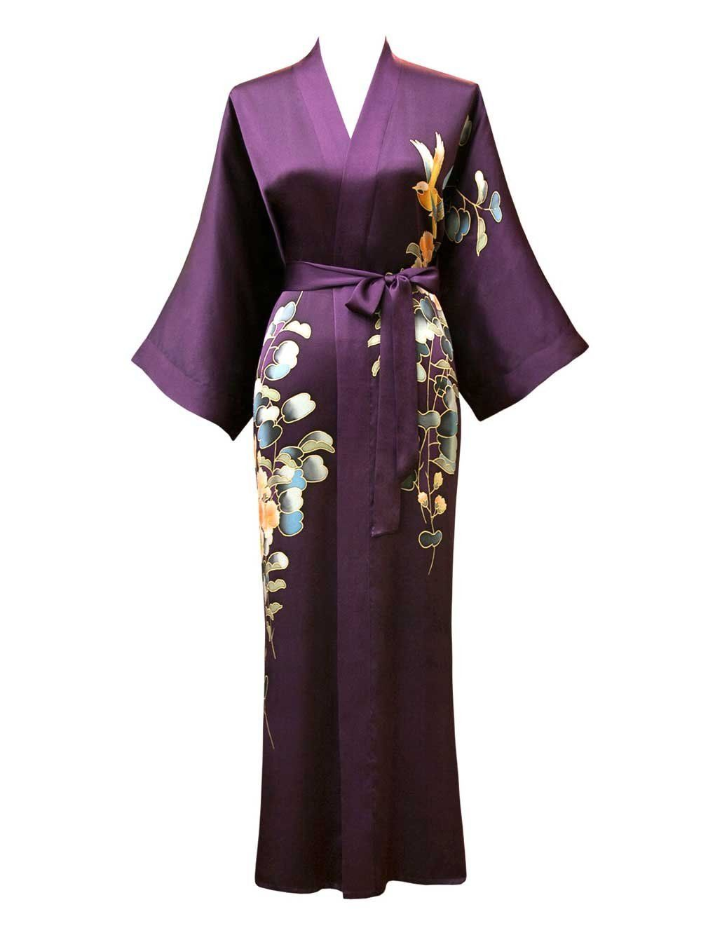 Every lady should have a dressing gown - Silk Kimono Dressing gown ...