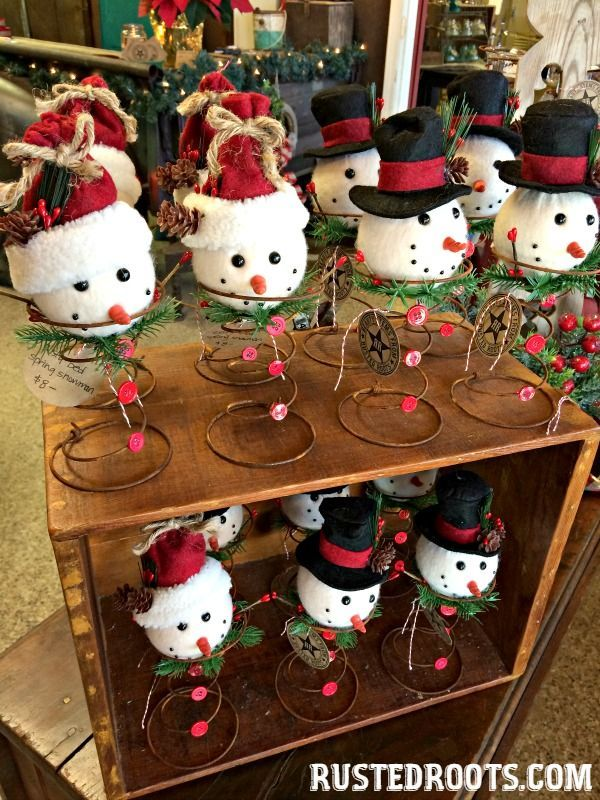 Repurposed Rusty Bed Spring Snowman u0026 Other
