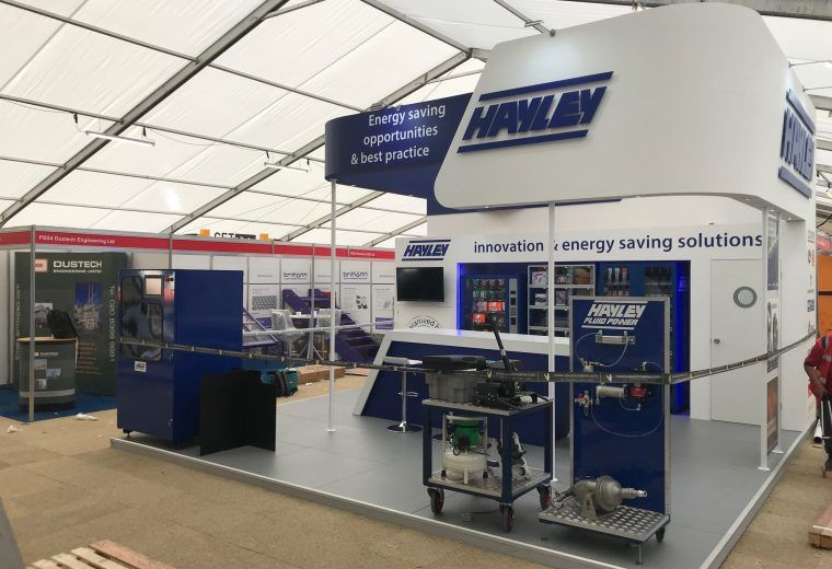 Custom Built Exhibition Stands Uk : Custom built exhibition stand for hayley group at hillhead buxton