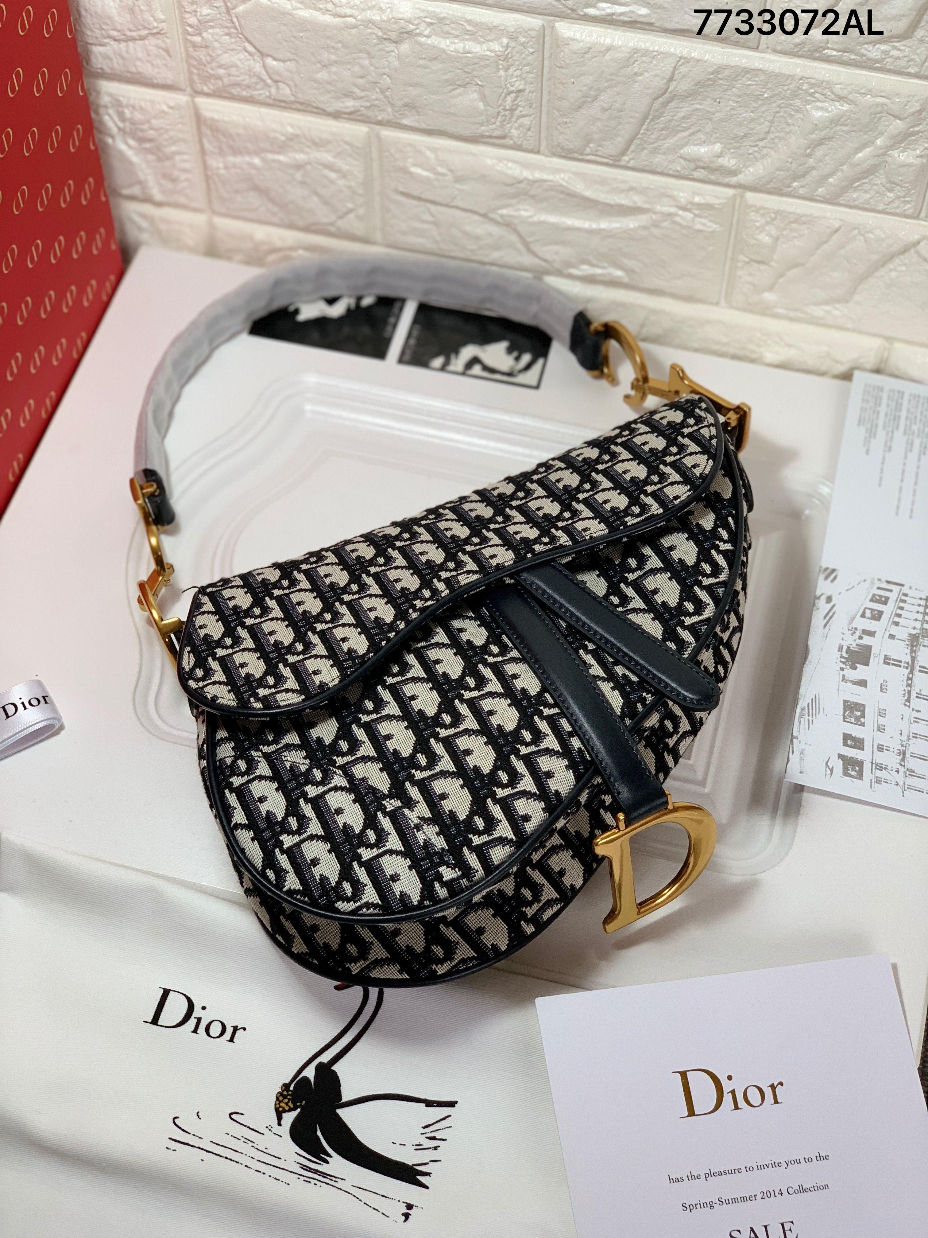 d591712ef9c Christian Dior cd woman saddle shoulder oblique canvas shoulder bag ...