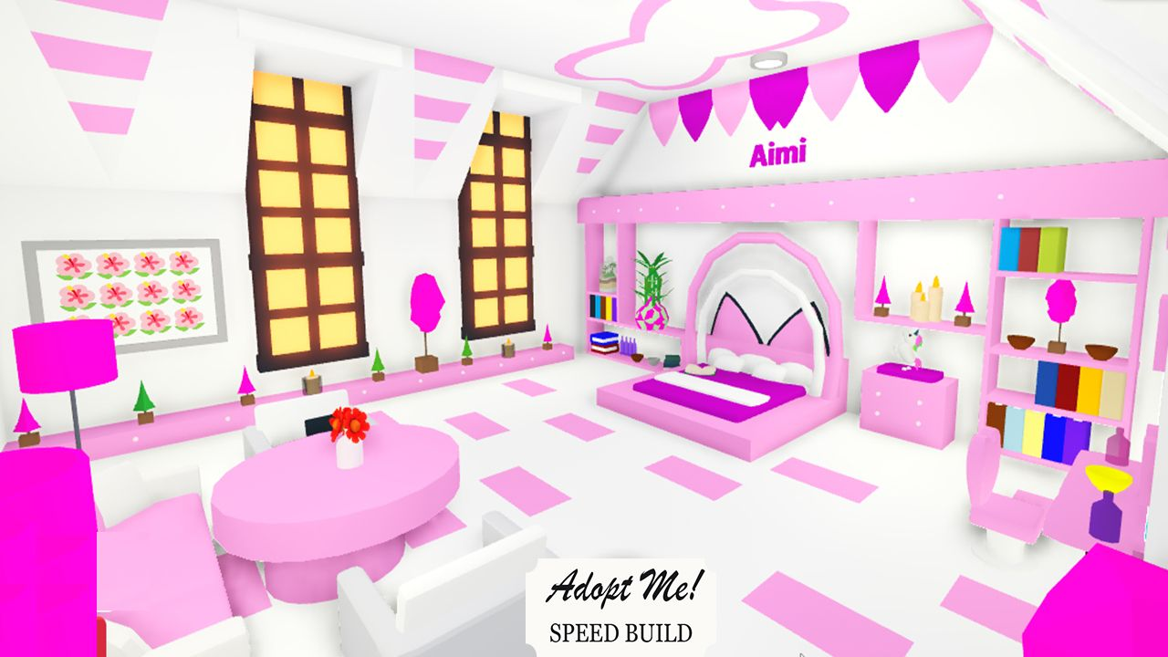 Pink And White Bedroom For Girl In Adopt Me Cute Room Ideas Cute House Bunny House