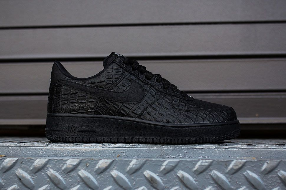 Nike Air Force 1  07 LV8 Black Croc  4ac6e1c68