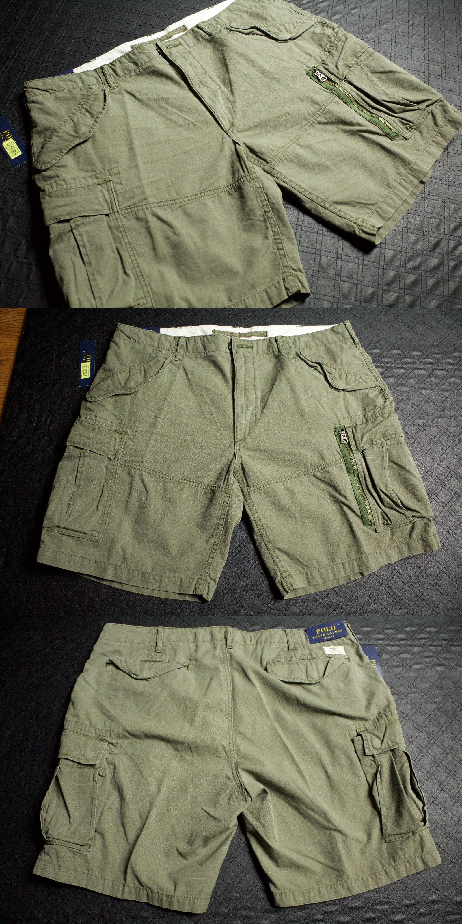 7e24900429 Shorts 15689: Polo Ralph Lauren Classic Fit Utility Ripstop Olive Cargo  Shorts Size S 38