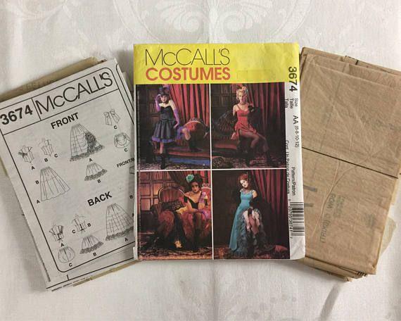 Westworld Maeve Clementine Mccalls 3674 Corset Ruffled Skirt 6 Butterick Sewing Pattern Mccalls Saloon Girls
