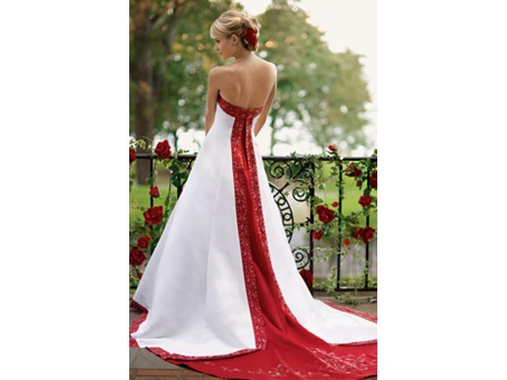 26087cb4007 White And Red Wedding Dresses At David S Bridal