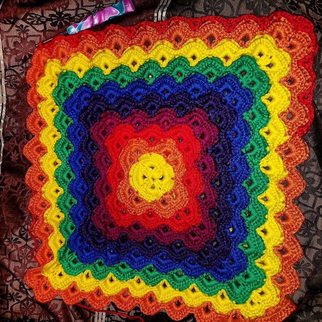 Loving this #rainbow #blanket for my #rainbowbaby  #crochet #handmade #crocheted #instacrochet #instacraft #photooftheday #baby #babygirl #babyblanket #oneyear #photo #photography #prop #celebratelife #vabeach #va #virginia #virginiabeach #hamptonroads #hrva #757 #dmv #inprogress #crochetblanket #knitpicks #mighty #stitch Working with @knit_picks might stitch yarn & loving it! by taquiascustomcreations