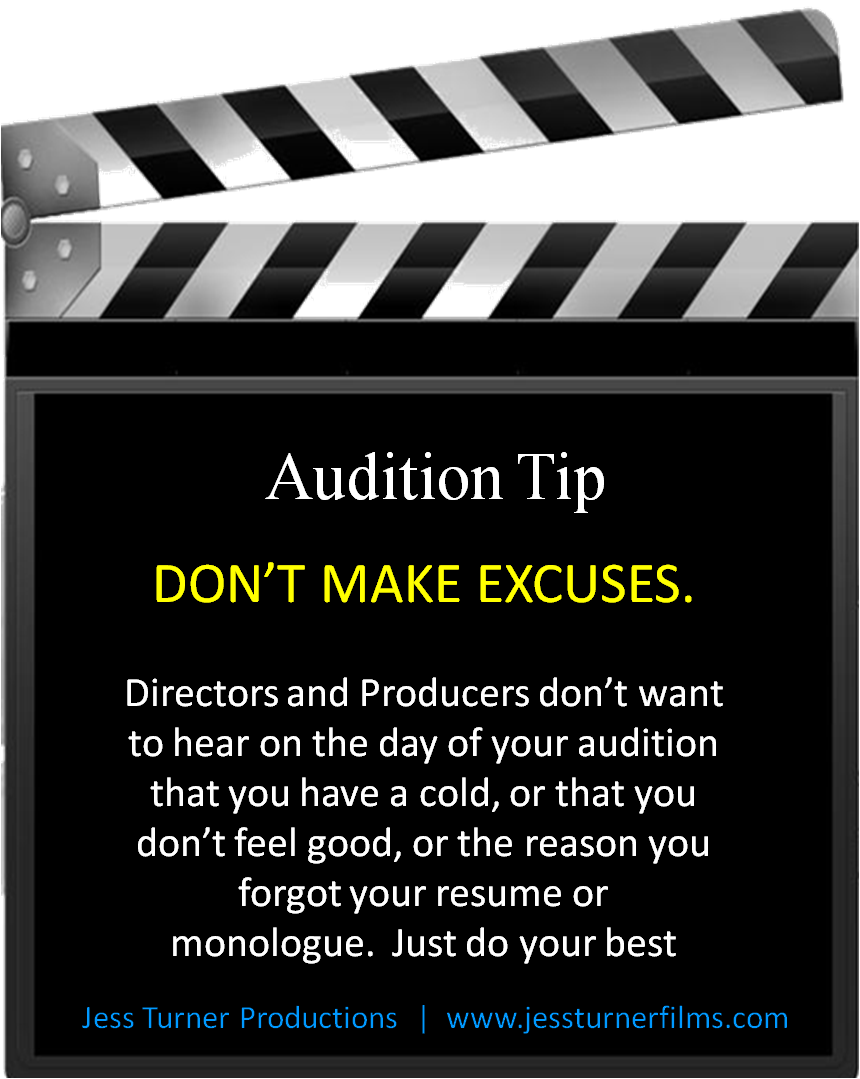 Follow us on Facebook for more audition tips at www