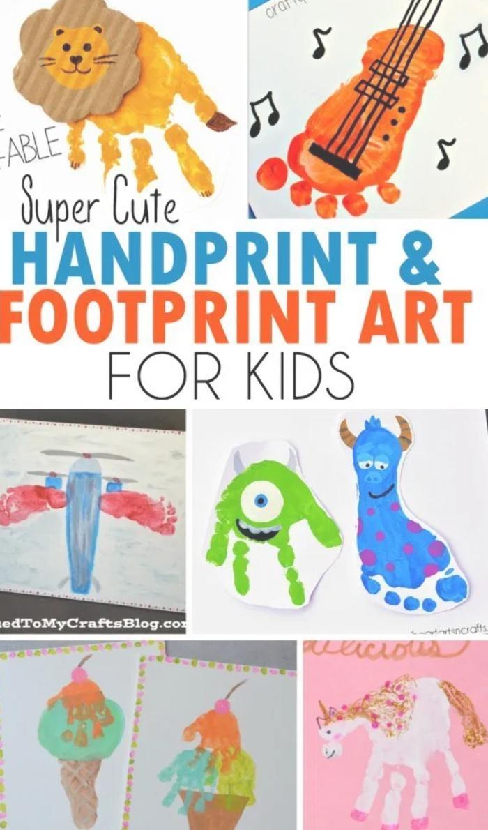 Handprint Footprint Art For Kids Roundup Footprint Art Art For Kids Baby Art Projects